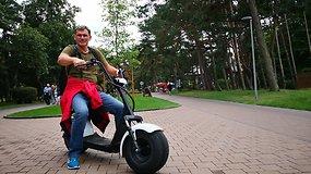 Palangos dviračių takuose ankšta: norint išvengti nelaimės, važiuoti reikia lėtai