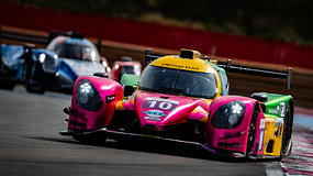 "Gusto Grinbergo ir ""Oregon Team"" LMP3 automobilis iš vidaus"