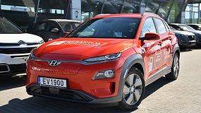 Žurnalistas V.Milius elektromobiliu HYUNDAI KONA siekia naujo rekordo