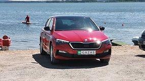"""""""Škoda Scala"""" bandymai: interjeras, dinamiška išorė ir """"Style"""" komplektacija su priedais"""