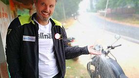 Motociklininkas Karolis Mieliauskas spalvingoje Indijoje