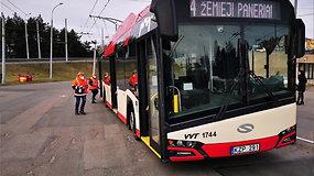 Kaip dirba mobilios Vilniaus viešojo transporto dezinfekuotojų brigados