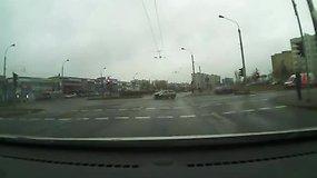 Škodos ir BMW avarija Vilniuje