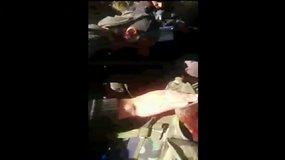 """""""Allah Akbar"""" šaukiantys Sirijos sukilėliai rado žuvusį Rusijos bombonešio lakūną"""