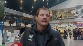 """Gintaro Krapiko komentaras oro uoste prieš varžybas su Krasnodaro """"Lokomotiv"""""""