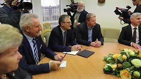 P.Urbšys ir A.Sysas vertina įvykusias konsultacijas dėl koalicijos