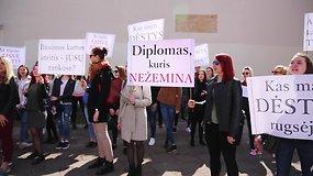 Lietuvos edukologijos universiteto studentai suorganizavo piketą