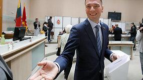 Mindaugas Puidokas balsavo išankstiniuose rinkimuose