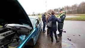 BMW ir VW avarija Kaune