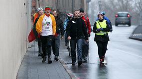 Žygeivis Saulius Bagdonas per rekordiškai trumpą laiką pėsčiomis įveikė atstumą nuo Tauragės iki Kauno