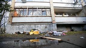 Kaune po apiplėšimo padegtas butas