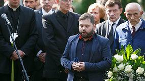 Leonidas Donskis išlydėtas skambant Rafailo Karpio atliekamai giesmei