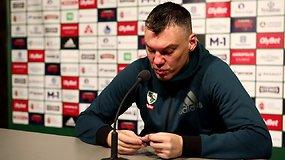 """Šarūnas Jasikevičius: """"Esam optimistai, žaidžiame gana gerai"""""""