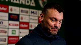 """Šarūnas Jasikevičius apie paskutines rungtynes: """"Eisim šimtu procentų išlošt rungtynes"""""""