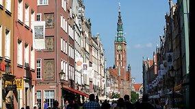 Lenkijos uostamiestyje Gdanske šurmulys ir netylančios gatvės muzikantų melodijos