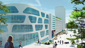 Kauno Vienybės aikštės pristatymas architektų vizualizacijose