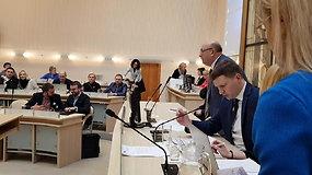 Kauno vicemeras Simonas Kairys veda Tarybos posėdį