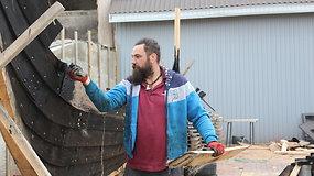 Kretingos rajono gyventojas statosi vikingų laivą
