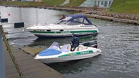 Pradės darbą: Klaipėdoje pakrikštyti trys policijos laivai