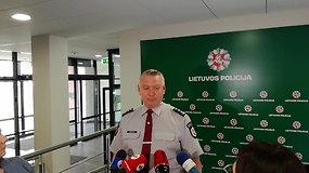 Klaipėdos apskrities VPK viršininkas Alfonsas Motuzas komentuoja nužudymo aplinkybes Klaipėdoje