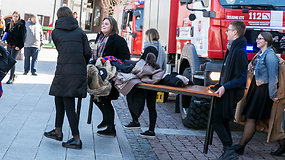 Vilniaus Rotušės patalpas renginio metu uždūmino svylantys laidai