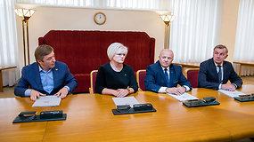 """""""Tvarkiečių"""" pagrindu susibūrusi frakcija """"Lietuvos gerovei"""" prisidėjo prie valdančiosios koalicijos"""