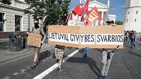 """Vilniuje – eisena """"Lietuvių gyvybės svarbios"""". Ko siekia organizatoriai?"""