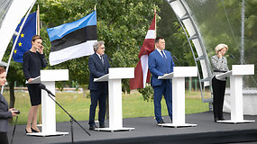 Medininkuose – EP pirmininko D.Sassoli ir Baltijos šalių parlamentų vadovų spaudos konferencija