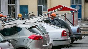 Vilniuje nukritę pastoliai apgadino 10 automobilių
