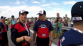 Lietuvos pramogų pasaulio žvaigždės dalyvavo automobilių traukos lenktynėse