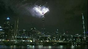 Pasaulis sutinka 2019-uosius: pasigrožėkite fejerverkais Naujojoje Zelandijoje