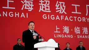 """Kinijoje duotas startas naujam """"Tesla"""" giga-fabrikui"""