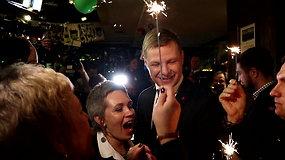 Audringos emocijos Remigijui Šimašiui laimėjus Vilniaus mero rinkimus