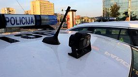 Į galą nukreiptos kameros ant policijos automobilių, kokia jų paskirtis?