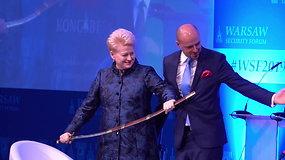 Daliai Grybauskaitei įteiktas Laisvės riterio apdovanojimas