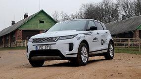"""Renkame """"Tautos automobilį 2020"""" : """"Range Rover Evoque"""" su """"stikliniu dugnu"""""""