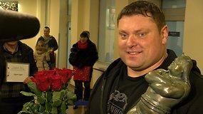 """Žydrūnas Savickas grįžo į Lietuvą su 8-uoju """"Arnold Strongman Classic"""" titulu"""