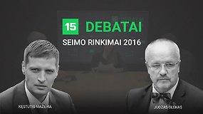 15min debatai: Juozas Olekas prieš Kęstutį Mažeiką
