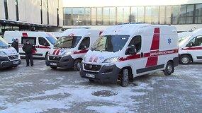 Gydymo įstaigoms perduoti 24 nauji greitosios medicinos pagalbos automobiliai