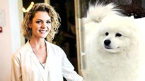 Žvaigždės augintinis: Liucina Rimgailė ir šuo Simba