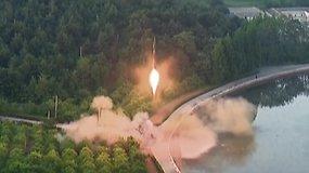 Naujausia Šiaurės Korėjos pasiekė didesnį negu 2,5 tūkst. km aukštį