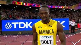 Usaino Bolto paskutinis 100 metrų karjeros bėgimas