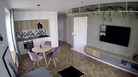 Dizainerės Linos Klios kurtas interjeras – betonas, spalvos ir geometrija