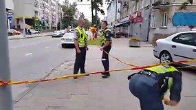 Per konfliktą Vilniuje panaudotas šaunamasis ginklas