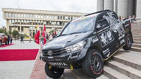 Benediktas Vanagas parodė naują automobilį, kuriuo šturmuos Dakarą