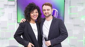 15min studijoje skamba muzika: Dominykas Vaitiekūnas ir Oneida Kunsunga gyvai pristatė naują projektą