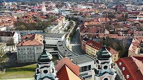 Vilnius karantine iš paukščio skrydžio