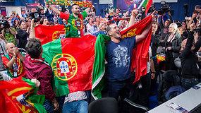 """Portugalai švenčia pergalę """"Eurovizijoje"""""""