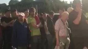 """Žiūrovų eilė prieš """"Sūduvos"""" rungtynes Marijampolėje"""