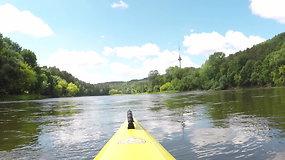 """Ekspedicija """"Baidarė upėje"""": 230 kilometrų Nerimi"""